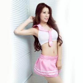 沐涩-粉色甜美学生制服 31119