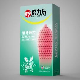 倍力乐-狼牙颗粒避孕套10只装